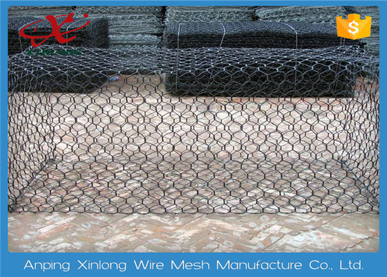 Hexagonal Rock Gabion Baskets , Gabion Fence Panels Various Mesh Size